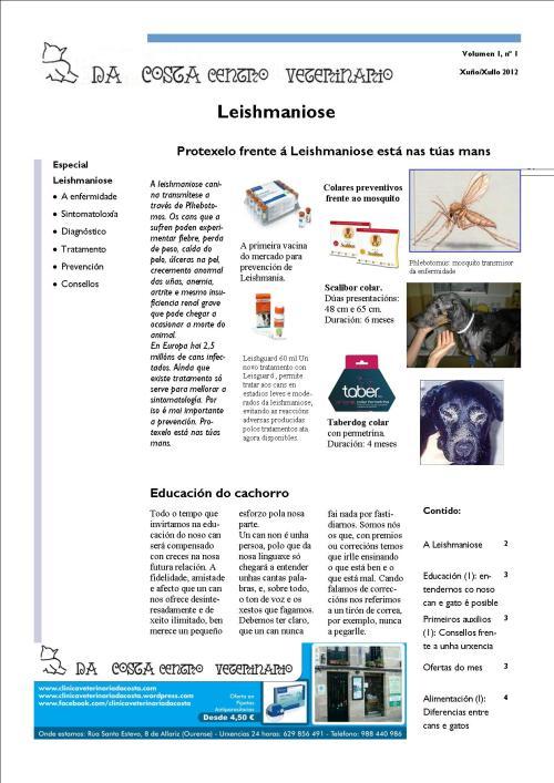 Portada Boletín Xuño/Xullo 2012